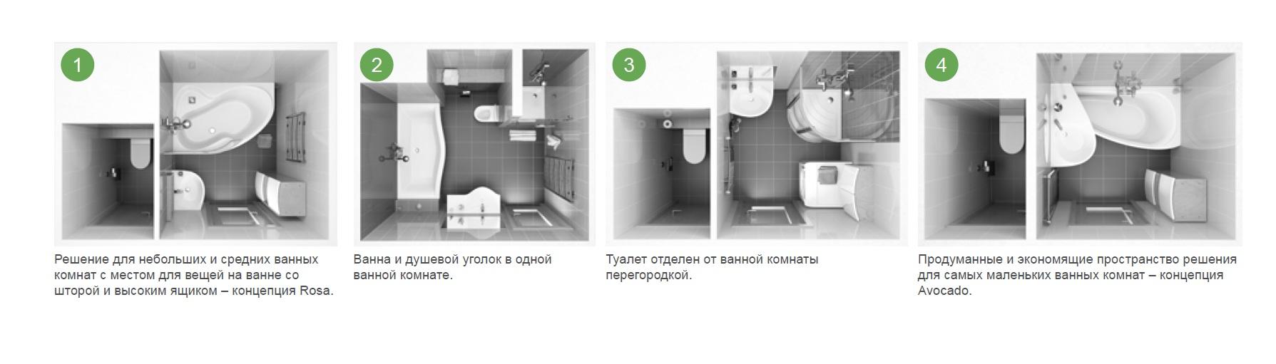 Четыре варианта ремонта ванной комнаты в панельных домах